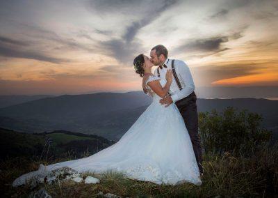 photode mariage coucher de soleil